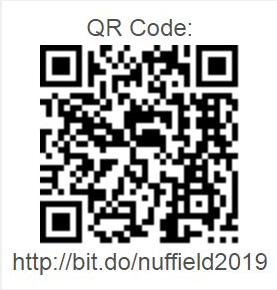 QR Code link to 2019 Nuffield International scholarship application